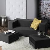 Eugene 61'' Square Arm Sleeper Sofa Bed Zipcode Design Finish: Black