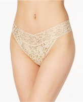 Hanky Panky Golden Leopard Sheer Lace Original-Rise Thong 4F1186