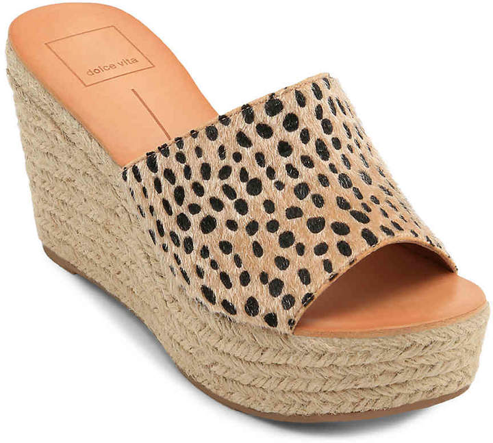 1b44b3568f67 Dolce Vita Beige Wedge Women s Sandals - ShopStyle