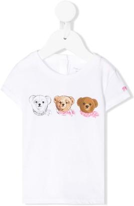 Ralph Lauren Kids Teddy Bear print buttoned T-shirt