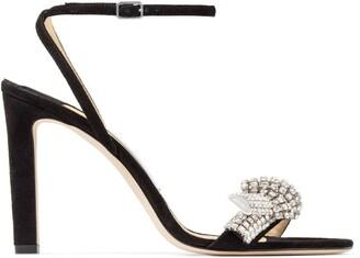 Jimmy Choo Thyra 100 Suede Sandals