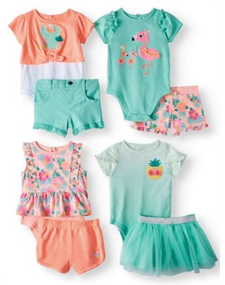 Garanimals Baby Girl Mix & Match Outfits Kid-Pack Gift Box, 8pc Set