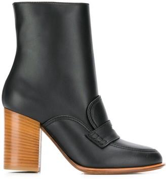 Loewe Brogue Detail Ankle Boots