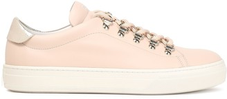 Tod's Metallic Crackled Leather-trimmed Smooth-leather Sneakers