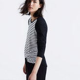Madewell Whisper Cotton Long-Sleeve Crewneck Tee in Stripeblock