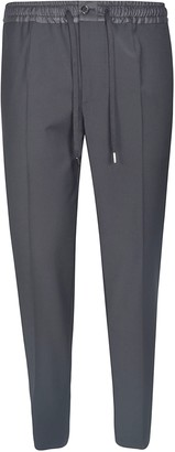 Dolce & Gabbana Ribbed Drawstring Waist Buttoned Trousers