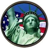 GiftJewelryShop Ancient Style The U.S. Statue of Liberty Round Pin Brooch