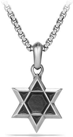 David Yurman Men's 23mm Sterling Silver Star of David Amulet