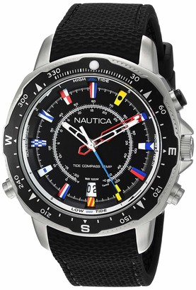 Nautica Men's Soledad South Stainless Steel Analog-Quartz Watch with Silicone Strap