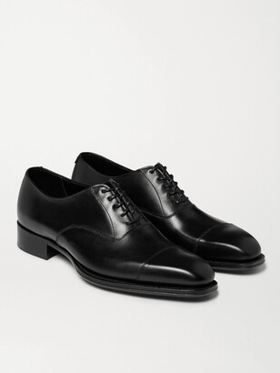 Kingsman + George Cleverley Leather Oxford Shoes - Black