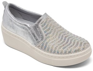 Skechers Women's Goldie Hi - Diamond Waves Slip-On Platform Casual Sneakers from Finish Line