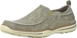 Skechers USA Men's Men's Relaxed Fit-Elected-Drigo Loafer Taupe 11.5 Extra Wide US