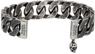 Alexander McQueen Silver Ottone Chain Bracelet
