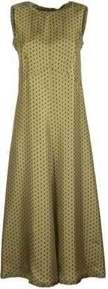 Max Mara Delia Silk Twill Dress Yellow