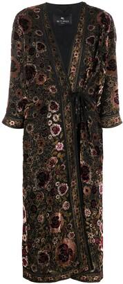Etro Tasseled Floral Print Coat
