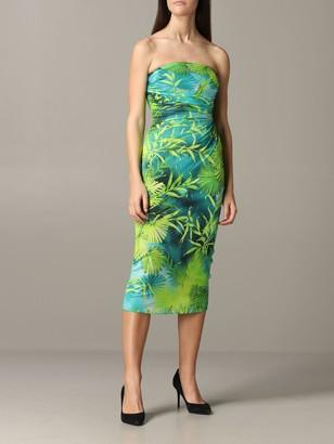 Versace Deacute;colleteacute; Dress With Jungle Print