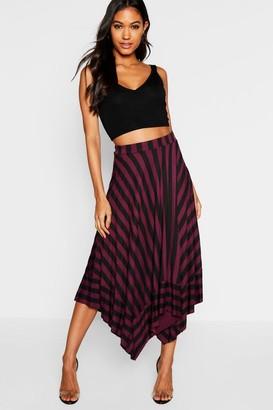 boohoo Contrast Stripe Full Midi Skirt