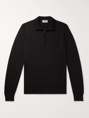John Smedley Tapton Slim-Fit Merino Wool Half-Zip Sweater