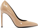 Saint Laurent Beige Patent Paris Pumps