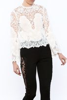 Lucy Paris White Lace Blouse