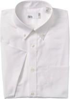 Nordstrom Rack Pinpoint Trim Fit Dress Short Sleeve Shirt
