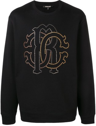Roberto Cavalli micro studs logo sweatshirt
