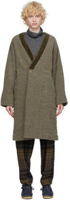 ts(s) tss Khaki Dotera Collarless Coat