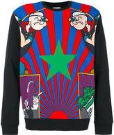 Iceberg Popeye Print Cotton Sweatshirt