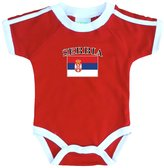 PAM baby Serbia soccer bodysuit with white piping