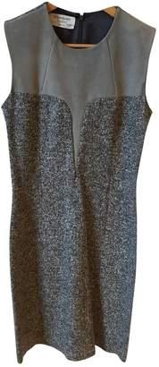 Saint Laurent Grey Wool Dresses