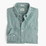 J.Crew Slim heather poplin shirt in green check