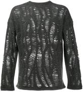 By Walid cashmere blend distressed jumper