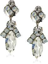 Sorrelli White Bridal Elegant Navette Drop Earrings