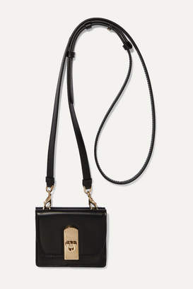 Salvatore Ferragamo Mini Leather Shoulder Bag - Black
