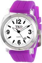 TKO ORLOGI Women's TK558-WPR Milano Junior Acrylic Case White Dial Watch