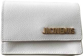 Jacquemus Le Bello White Leather Clutch bags