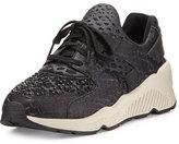 Ash Mood Snake-Embossed Platform Sneaker, Black/Gun/Abate