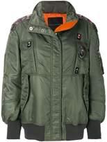Ermanno Scervino embroidered trim bomber jacket
