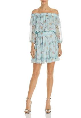 Shoshanna Bethea Floral Off-the-Shoulder Dress