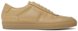 Common Projects Tan BBall Low Sneakers