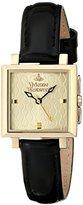 Vivienne Westwood Women's VV087GDBK Exhibitor Analog Display Swiss Quartz Black Watch