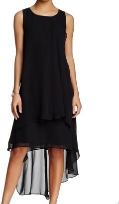 Sharagano Women's Sleeveless Dress with Multi Layers