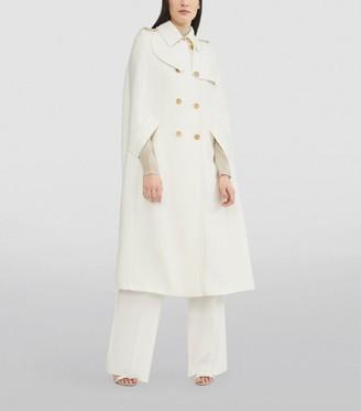 Max Mara Wool Double-Breasted Fuxia Coat