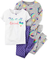 Carter's 4-Pc. Blast Off To Bed Pajama Set, Baby Girls (0-24 months)