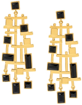 Charm & Chain Collection Wexler Statement Earrings, Jet