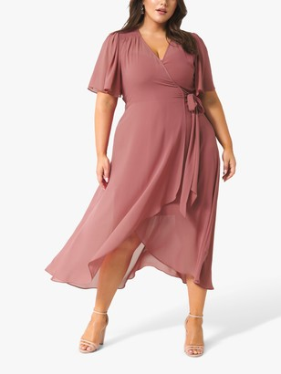 Forever New Curve Emmaline Dress, Regal Mauve