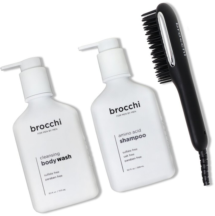 Thumbnail for your product : Sebastian Brocchi Brocchi Hot Air Brush, Amino Acid Shampoo & Cleansing Body Wash Bundle