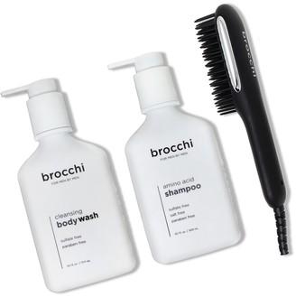 Sebastian Brocchi Brocchi Hot Air Brush, Amino Acid Shampoo & Cleansing Body Wash Bundle