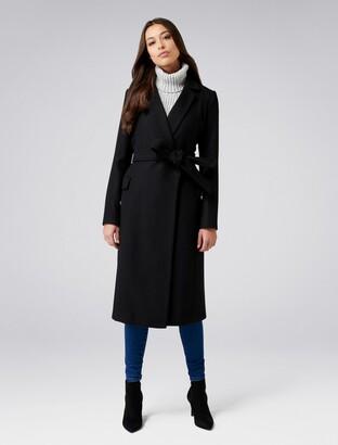 Forever New Ellen Maxi Coat - Black - 16