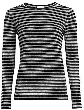Akris Punto Women's Metallic Stripe Wool-Blend Pullover